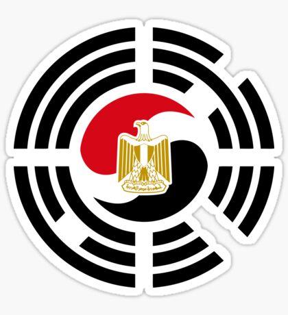 Korean Egyptian Multinational Patriot Flag Series Sticker