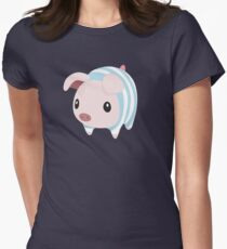 Poogie Piggie Monster Hunter Print Pj Pajama Women's Fitted T-Shirt