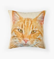 Beautiful ginger cat Throw Pillow