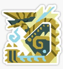 Zinogre Monster Hunter Design  Sticker