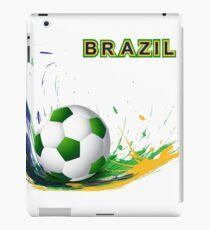 Beautiful brazil colors concept shiny soccer ball iPad Case/Skin