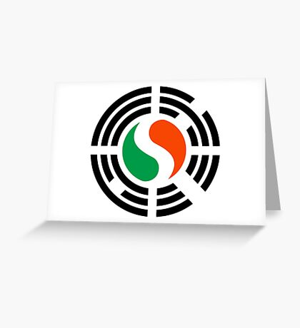 Korean Irish Multinational Patriot Flag Series Greeting Card