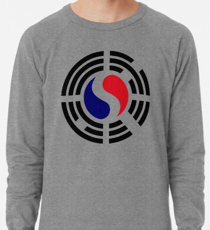Korean French Multinational Patriot Flag Series Lightweight Sweatshirt
