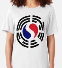Korean French Multinational Patriot Flag Series Slim Fit T-Shirt