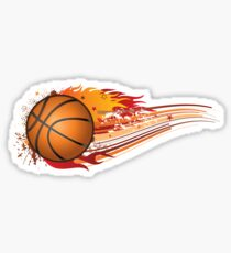 Basketball in fire Sticker