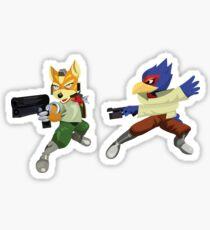 Fox and Falco StarFox Melee Design Sticker