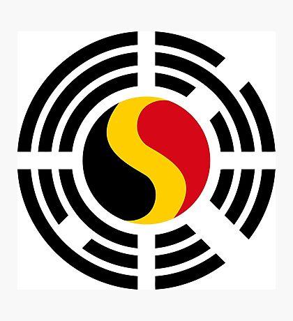 Korean Belgian Multinational Patriot Flag Series Photographic Print