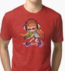 Splatoon Squid kid Nintendo Print Tri-blend T-Shirt