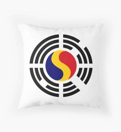 Korean Romanian Multinational Patriot Flag Series Throw Pillow