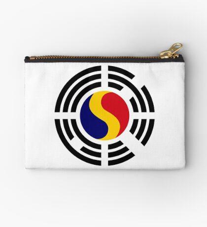 Korean Romanian Multinational Patriot Flag Series Zipper Pouch