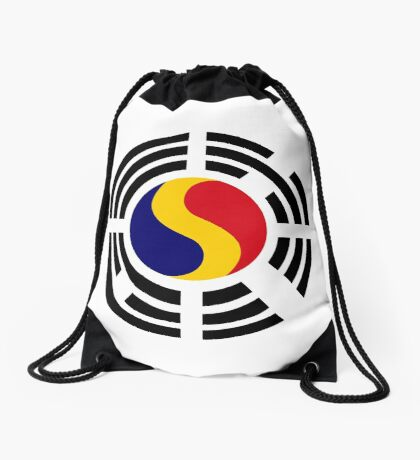 Korean Romanian Multinational Patriot Flag Series Drawstring Bag