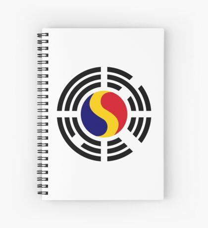 Korean Romanian Multinational Patriot Flag Series Spiral Notebook