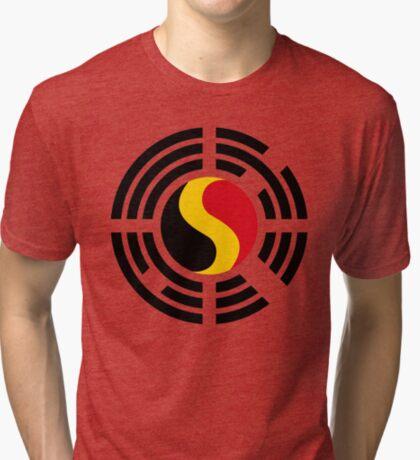 Korean Belgian Multinational Patriot Flag Series Tri-blend T-Shirt