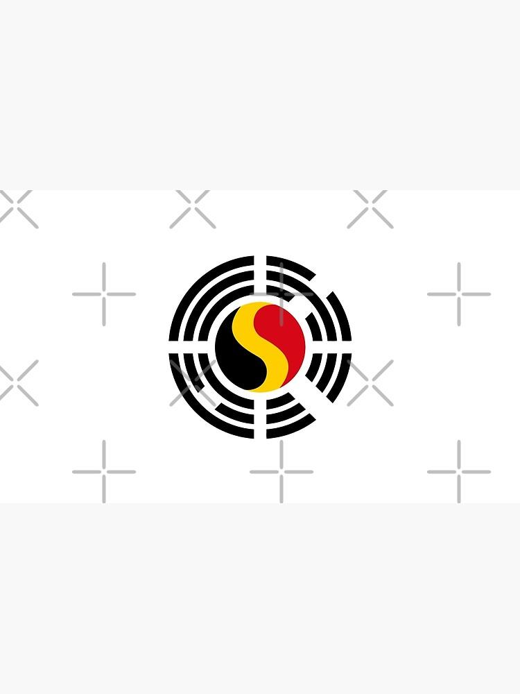 Korean Belgian Multinational Patriot Flag Series by carbonfibreme