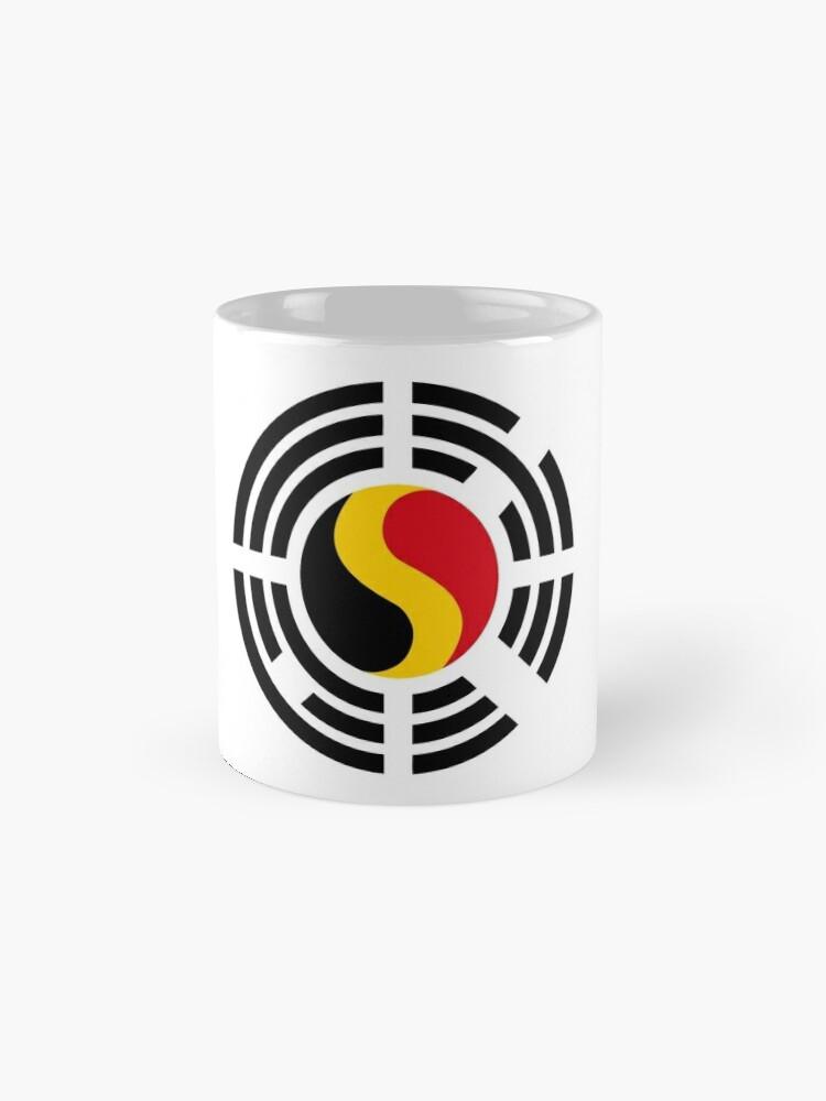 Alternate view of Korean Belgian Multinational Patriot Flag Series Mug