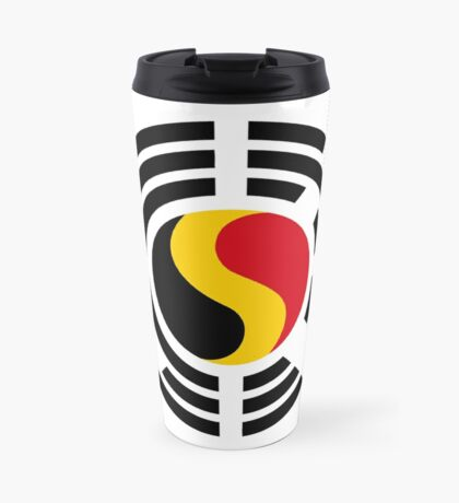 Korean Belgian Multinational Patriot Flag Series Travel Mug