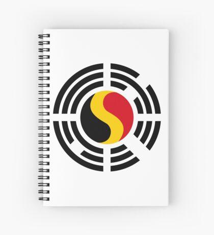 Korean Belgian Multinational Patriot Flag Series Spiral Notebook