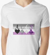 ACES on Asexual flag T-Shirt