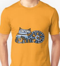 Funny floral pattern cats Unisex T-Shirt
