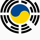 Korean Ukrainian Multinational Patriot Flag Series by Carbon-Fibre Media