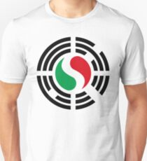 Korean Italian Multinational Patriot Flag Series Slim Fit T-Shirt