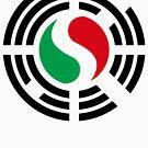Korean Italian Multinational Patriot Flag Series by Carbon-Fibre Media