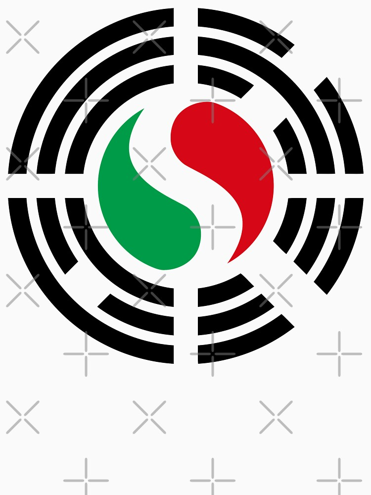 Korean Italian Multinational Patriot Flag Series by carbonfibreme