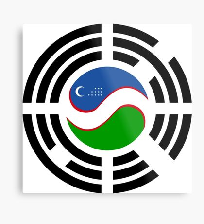 Korean Uzbeki Multinational Patriot Flag Series Metal Print