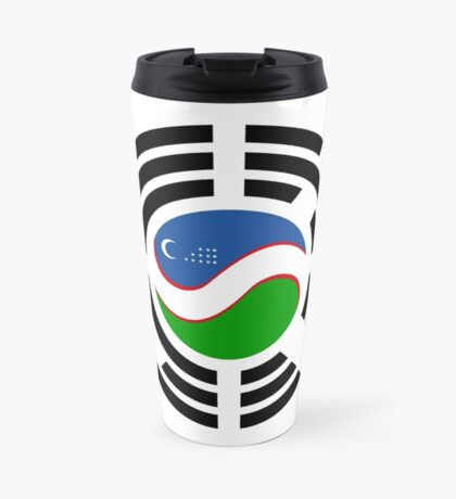 Korean Uzbeki Multinational Patriot Flag Series Travel Mug
