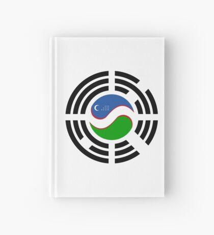 Korean Uzbeki Multinational Patriot Flag Series Hardcover Journal