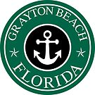 GRAYTON BEACH FLORIDA 30A ROUND ANCHOR NAUTICAL STAR WALTON COUNTY by MyHandmadeSigns