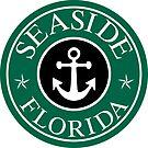 SEASIDE FLORIDA 30A ROUND ANCHOR NAUTICAL STAR WALTON COUNTY by MyHandmadeSigns