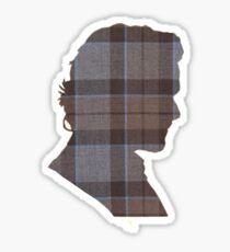 Fraser Tartan Silhouette Sticker