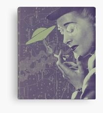 The Cigarette Smoking Woman Canvas Print
