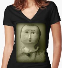 She Does Not Approve Women's Fitted V-Neck T-Shirt
