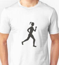 Women running sport silhouette T-Shirt