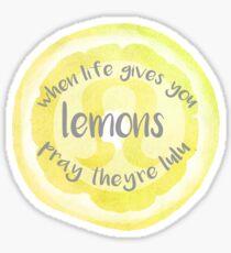 Wenn das Leben dir Lululemon gibt Sticker