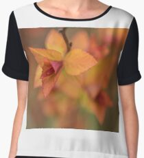 Fiery spring leaves Chiffon Top