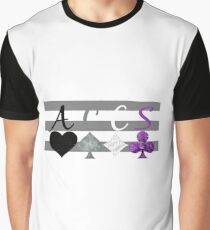 ACES on Heteroromantic flag Graphic T-Shirt