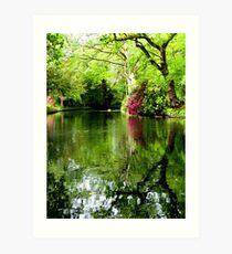 Hornby Castle Gardens Art Print