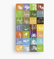 ABC-Book French Animal Canvas Print