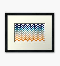 Beach- Sand, Ocean, Sky Color Theme  Framed Print