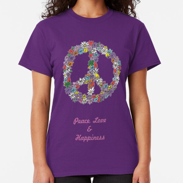 Peace and Flowers  Classic T-Shirt