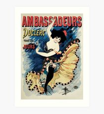 French belle epoque café chantant ambassadors advert Art Print