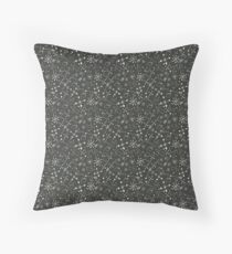 Out of Space Black Sky and Stars Throw Pillow