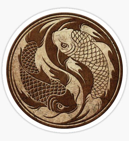 Yin Yang Koi Fisch mit rauem Beschaffenheits-Effekt Sticker