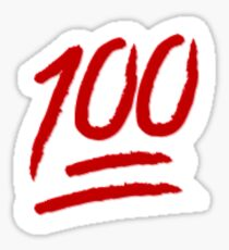 THE 100 EMOJI Sticker