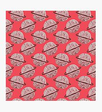 Red Planet Hand Drawn Pattern Photographic Print