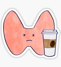 Coffee Thyroid Sticker