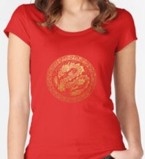 dragon circle Women's Fitted Scoop T-Shirt